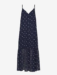KailaGZ OZ strap dress HS20 - maxi kjoler - navy flower dot