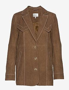 EllieGZ jacket HS20 - læderjakker - toffee