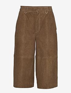 EllieGZ shorts HS20 - pantalons en cuir - toffee