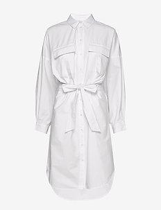 StaliaGZ OZ shirt dress - skjortekjoler - bright white