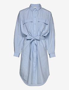 StaliaGZ OZ shirt dress - skjortekjoler - xenon blue