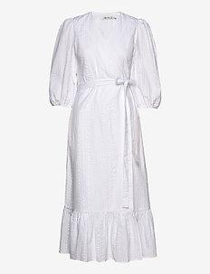 HevinGZ wrap dress HS20 - wikkel jurken - bright white