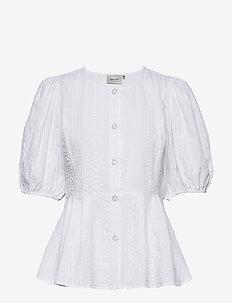 HevinGZ blouse HS20 - short-sleeved blouses - bright white