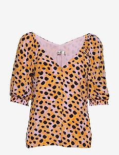 UrielGZ blouse - blouses med korte mouwen - orange leo