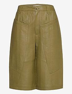 NaloaGZ shorts AO20 - leren shorts - dried herb