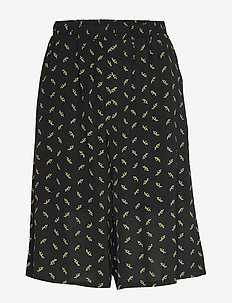BelinaGZ shorts AO20 - casual szorty - black flower pattern