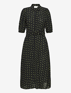 BelinaGZ dress AO20 - robes chemises - black flower pattern