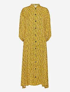 ThalloGZ long dress AO20 - midi jurken - yellow mini flower