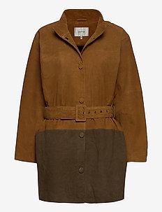SuiraGZ OZ coat AO20 - nahkatakit - tapenade