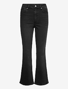 EmilindaGZ HW 7/8 flared pants NOOS - schlaghosen - washed grey