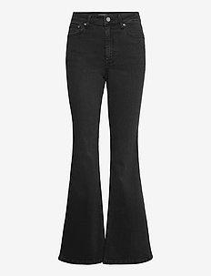 EmilindaGZ HW flared jeans NOOS - schlaghosen - washed grey