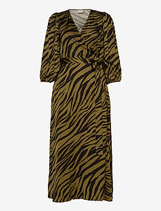 NadjaGZ wrap dress BZ - robes portefeuille - army animal