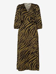 NadjaGZ wrap dress BZ - wrap dresses - army animal