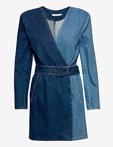 MeliaGZ blazer dress MA20 - wrap dresses - dark blue denim