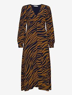 EniseGZ midi dress MA20 - midi kjoler - navy zebra