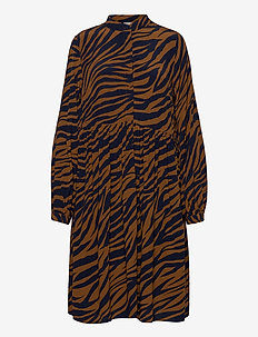 EniseGZ short dress MA20 - korte kjoler - navy zebra