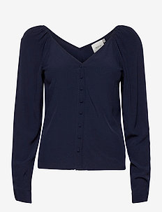 EniseGZ blouse MA20 - long sleeved blouses - peacoat
