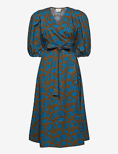 MiriamGZ wrap dress MA20 - wrap dresses - blue shadow flower
