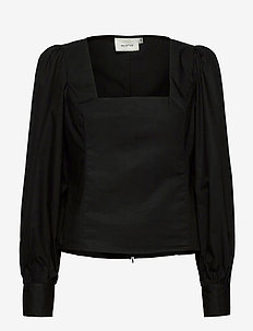 ElvanaGZ blouse MA20 - long sleeved blouses - black