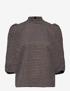 VivGZ blouse MA20 - langermede bluser - brown check