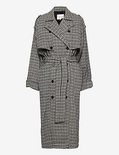MariaGZ coat MA20 - manteaux en laine - black blue check