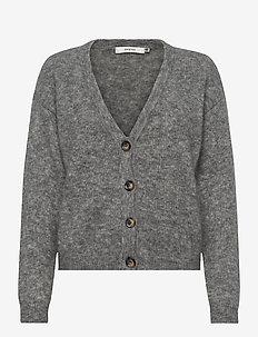 DebbieGZ V-cardigan - gilets - high-rise grey melange