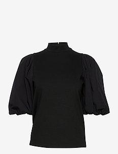 BimaGZ turtleneck MA20 - bluzki z krótkim rękawem - black
