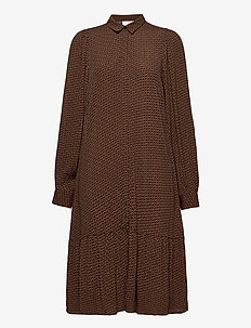 ElayGZ short dress MA20 - shirt dresses - brown logo