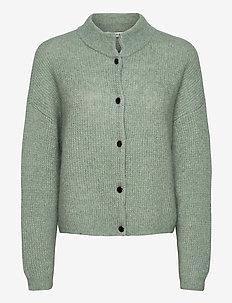 DebbieGZ short cardigan - neuletakit - slate gray