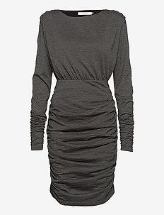 IljaGZ dress YE20 - sukienki do kolan i midi - dark grey melange