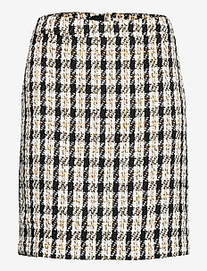 NikalaGZ skirt YE20 - lyhyet - black/yellow check