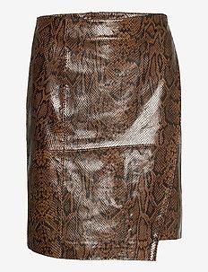 SaleemaGZ skirt YE20 - jupes en cuir - brown snake
