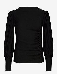 RifaGZ puff blouse - langermede bluser - black