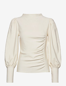 RifaGZ puff blouse - langærmede bluser - egret
