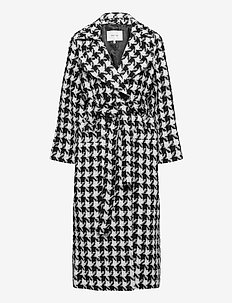 UnnaGZ OZ coat SO21 - villakangastakit - black/white houndtooth