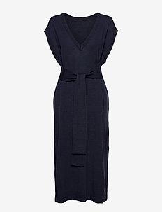 ThelmaGZ long waistcoat SO21 - strikkede kjoler - navy melange