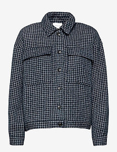 CleaGZ jacket SO21 - wool jackets - navy/white check