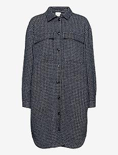 CleaGZ long shirt SO21 - overshirts - navy/white check