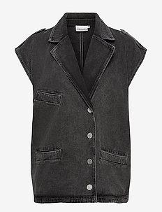 AleahGZ waistcoat SO21 - denimjakker - storm grey
