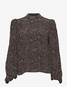 TikaGZ blouse SO21 - langærmede bluser - brown strokes