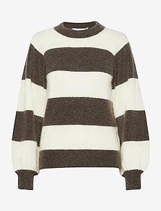 DebbieGZ stripe pullover SO21 - neulepuserot - earth