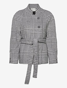 RoselGZ jacket SO21 - wool jackets - grey/white check
