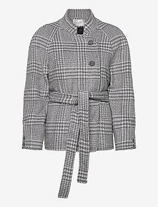 RoselGZ jacket SO21 - uldjakker - grey/white check