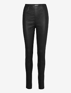 SashaGZ HW leather legging NOOS - pantalons en cuir - black