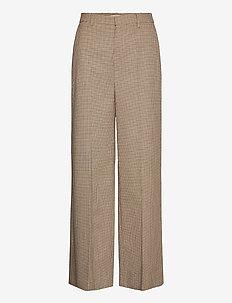 GritaGZ HW wide pants MS21 - bukser med brede ben - sand black check