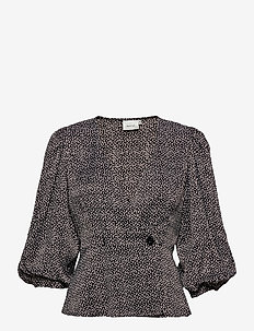 IlaGZ blouse MS21 - langærmede bluser - moonbeam square dot