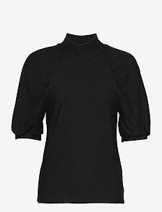 RifaGZ ss turtleneck - kortærmede bluser - black