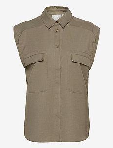 LeejaGZ sl shirt - short-sleeved shirts - brindle