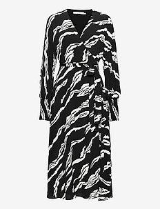 ZohaGZ wrap dress MS21 - midi-kleider - black scratch