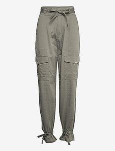NeenaGZ HW pants - casual trousers - dark army